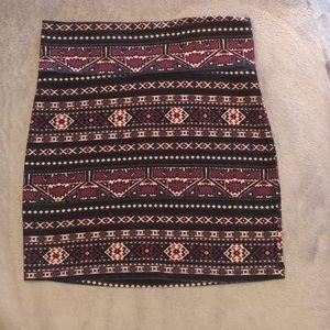 Aztec Print Mini Skirt!
